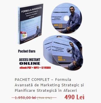 Formula Avansată de Marketing Strategic, Internet Marketing și Planificare Strategică de Marketing și Management în Afaceri