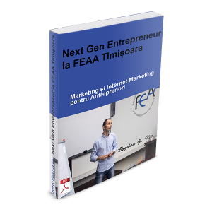 PDF – Next Gen Entrepreneur la FEAA Timisoara – 38 de pag. despre Marketing si Internet Marketing pentru Antreprenori