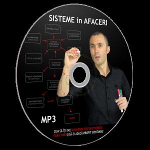 """MP3 – AUDIO BOOK: SISTEME in AFACERI – """"Cum sa iti faci afacerea sa functioneze fara tine si sa iti produca profit in mod continuu"""""""