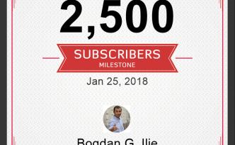 2500 de abonati pe canalul de YouTube 1